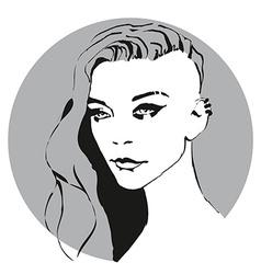 girl icon vector image