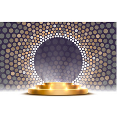 Gold podium is winner or popular on gray vector