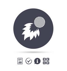 golf fireball sign icon sport symbol vector image