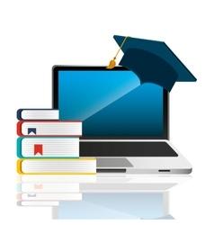 graduation school emblem icon vector image