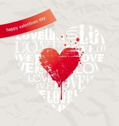 Grunge hearts on vintage paper vector
