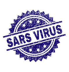 Grunge textured sars virus stamp seal vector