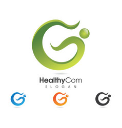 healthy life logo vector image