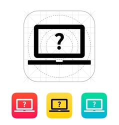 Help and FAQ laptop icon vector image