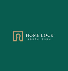 home lock real estate abstract sign symbol vector image