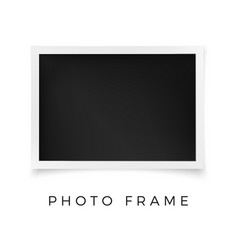 horizontal photo frame white image blank with vector image
