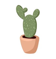 Hygge potted cactus plant cozy lagom scandinavian vector