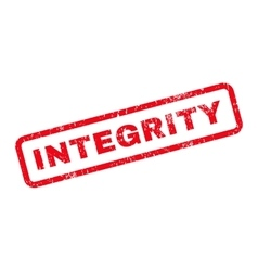 Integrity Text Rubber Stamp vector