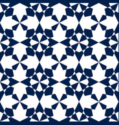 Islamic mosaic seamless geometric pattern vector