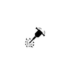 Jackhammer icon vector