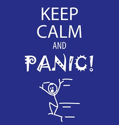 Keep calm and panic vector