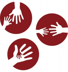 Kids hands together vector