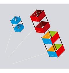 Kite design over gray background vector