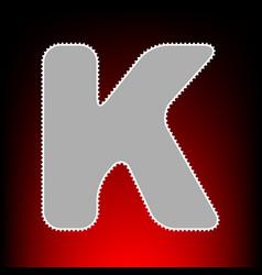 letter k sign design template element postage vector image
