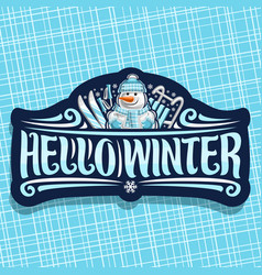 logo for winter holidays vector image