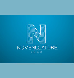 logo template letter n in the style of a vector image
