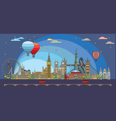 london colorful line art 8 vector image