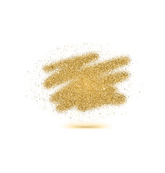 Luxury gold sparkle glitter brush strokes texture vector