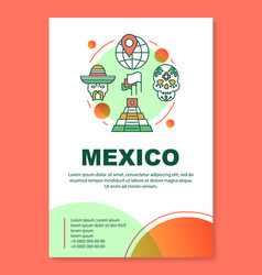 Mexico brochure template layout mexican tourist vector