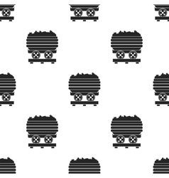 Minecart icon in black style isolated on white vector
