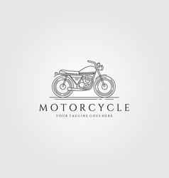 motorcycle line art logo minimalist vector image