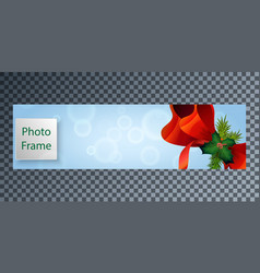 New years cover for facebook with a beautiful bow vector