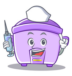 Nurse rice cooker character cartoon vector