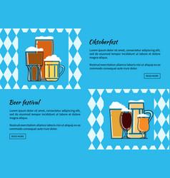 oktoberfest beer festiva web banner vector image