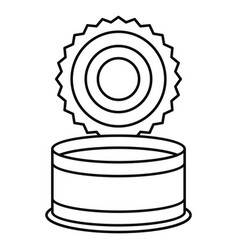 Open tin can icon outline style vector