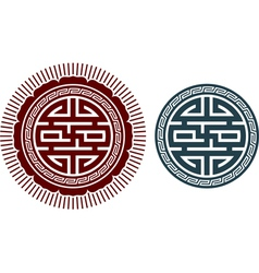 oriental design element vector image
