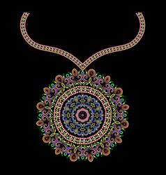 ornamental colored pendant vector image