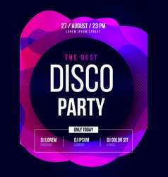 Party flyer club music poster dj lineup vector