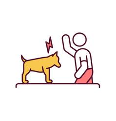 Pets abuse rgb color icon vector
