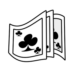 poker playing card magician outline vector image