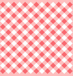 Red gingham seamless pattern vector