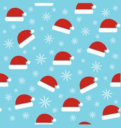 Santa hats seamless christmas pattern vector