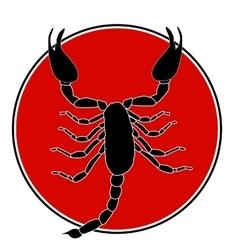 Scorpion Silhouette Icon vector
