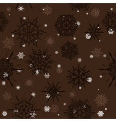 Seamless texture with snowflakes vector