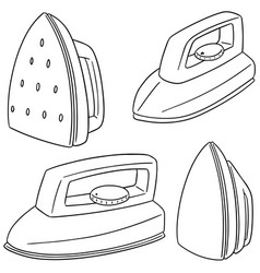 set of iron vector image