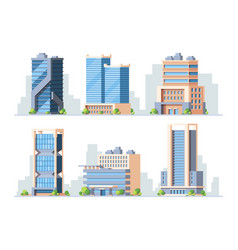 skyscrapers high-rise buildings colorful vector image