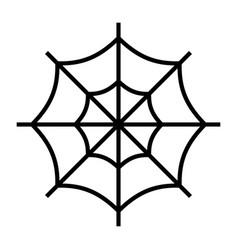Spider web line vector