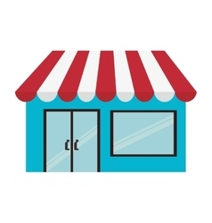 store shop building small vector image