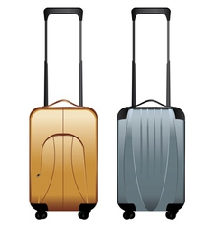 Suitcases on Wheels vector