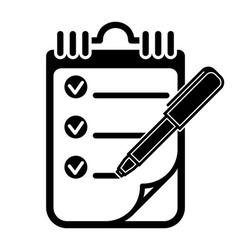 To Do List Clipboard Pen Icon vector