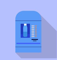 Water kiosk machine icon flat style vector