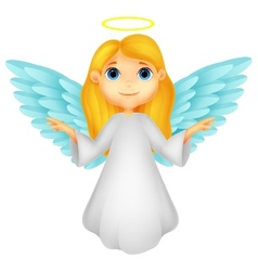 White angel cartoon vector