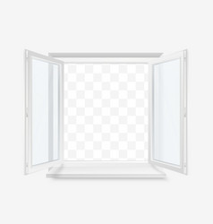 white office plastic window window front view vector image