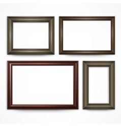 Wooden frames on white vector image