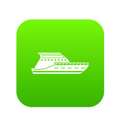 yacht icon digital green vector image
