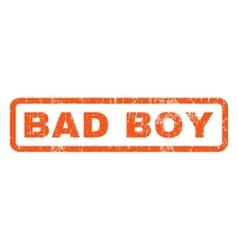 Bad Boy Rubber Stamp vector image